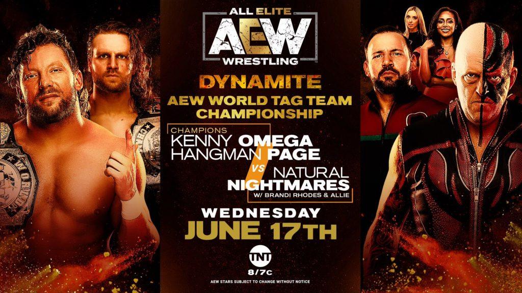 AEW World Tag Team Championship Match: Kenny Omega & Hangman Page vs. Natural Nightmares