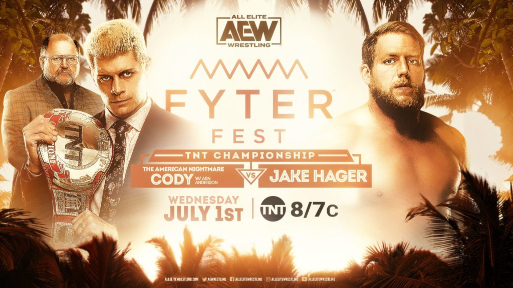 "TNT Championship Match ""American Nightmare"" Cody vs. Jake Hager"