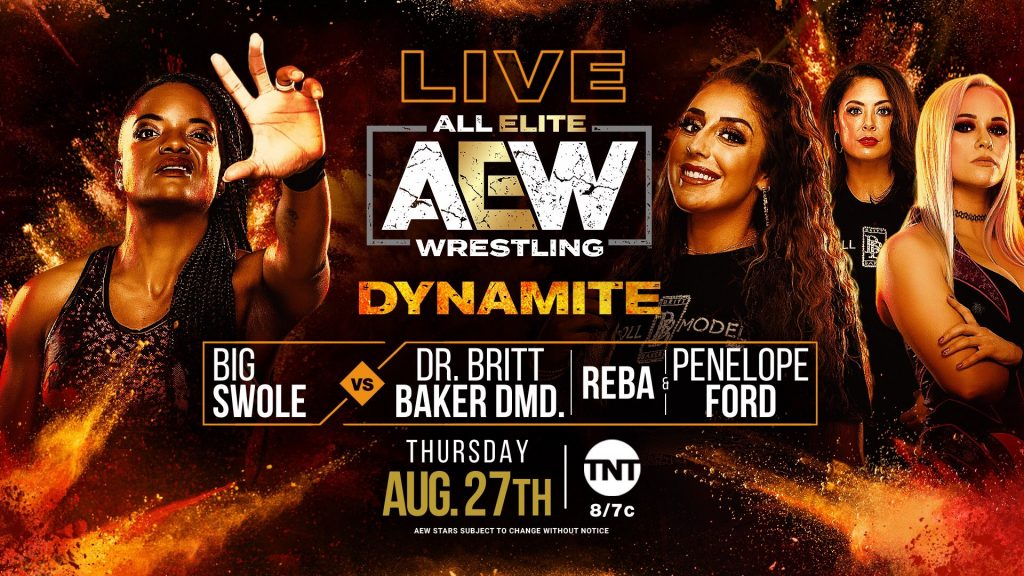 Big Swole vs. Dr. Britt Baker, Reba, & Penelope Ford