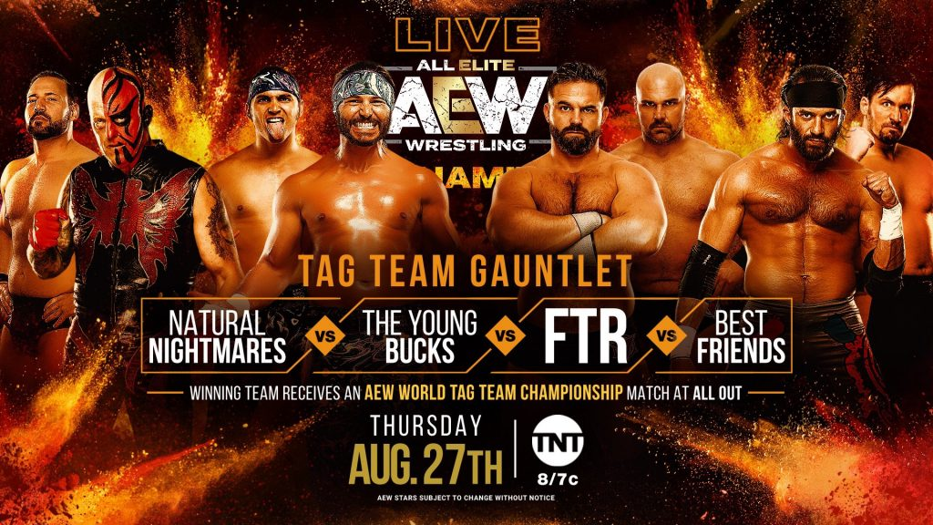 Tag Team Gauntlet: Winning Team Receives An AEW World Tag Team Championship Match at All Out